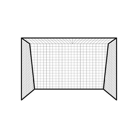 Isolated soccer net icon. Vector illustration design