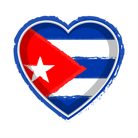 Heart shaped flag of Cuba