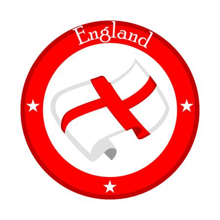 Flag of England on a label. Vector illustration design Illustration