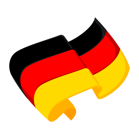 Isolated flag of Germany. Vector illustration design