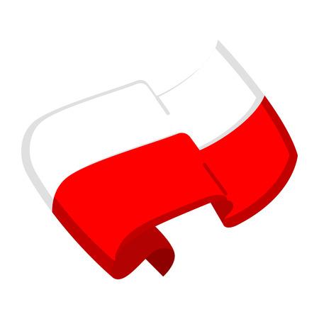 Isolated flag of Poland. Vector illustration design Illustration