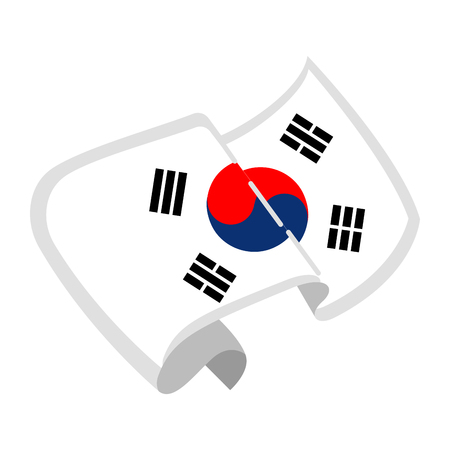 Isolated flag of South Korea