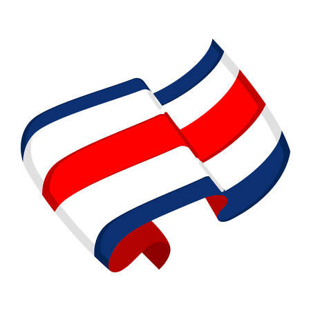 Isolated flag of Costa Rica. Vector illustration design Stock Illustratie