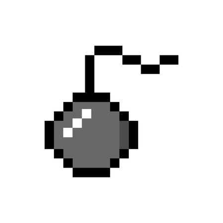 Isolated pixelated bomb icon Illustration