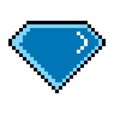 Isolated pixelated diamond icon