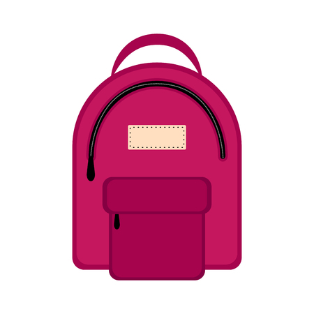 Isolated colored backpack icon. Vector illustration design