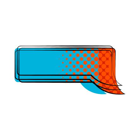 Isolated comic speech bubble. Vector illustration design