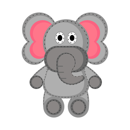 Isolated stuffed elephant toy icon. Vector illustration design Banque d'images - 114725579