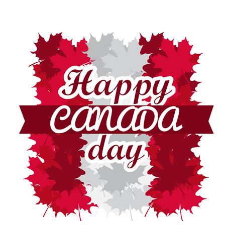 Happy canada day image. Vector illustration design