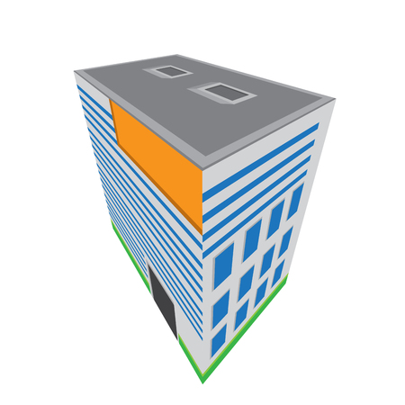 Isolated isometric apartment building icon. Vector illustration design