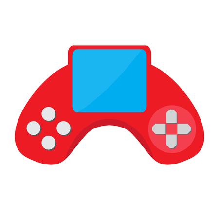 Isolated portable videogame console icon. Vector illustration design Vetores