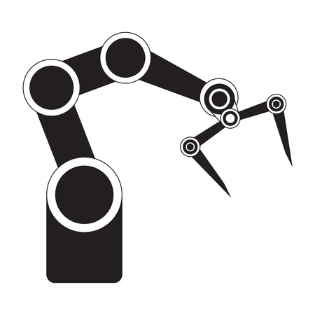 Isolated industrial robot arm icon. Vector illustration design