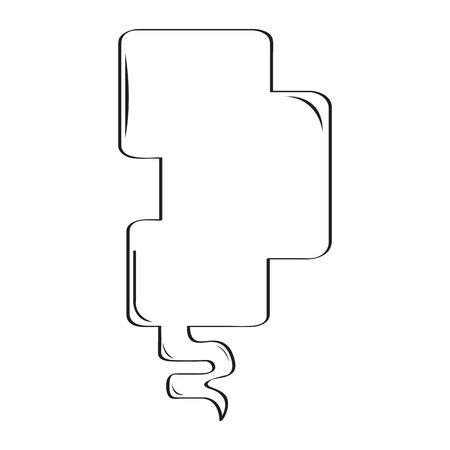 Isolated empty comic speech bubble. Vector illustration design