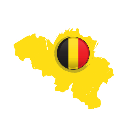 Map of Belgium with a label. Vector illustration design