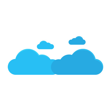 Isolated cloud weather icon. Vector illustration design 矢量图像