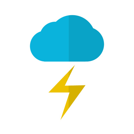 Isolated thunderstorm weather icon. Vector illustration design 矢量图像