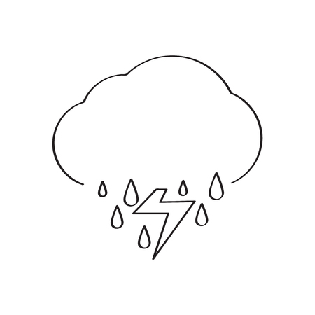 Isolated thunderstorm weather icon. Vector illustration design