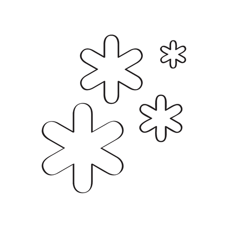 Isolated winter weather icon. Vector illustration design