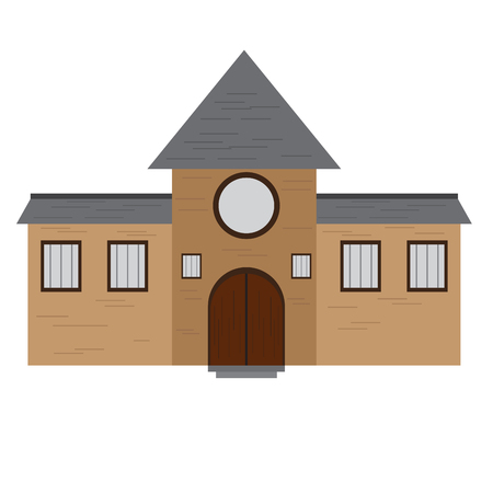 Isolated medieval building icon. Vector illustration design Illustration