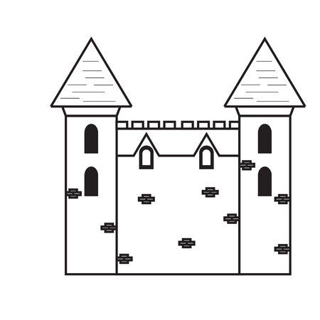 Isolated medieval castle icon Illustration