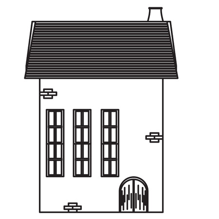 Isolated medieval building icon. Vector illustration design  イラスト・ベクター素材