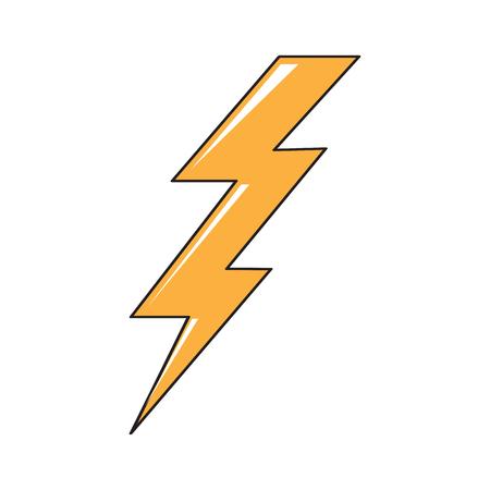 Isolated comic thunder icon. Vector illustration design