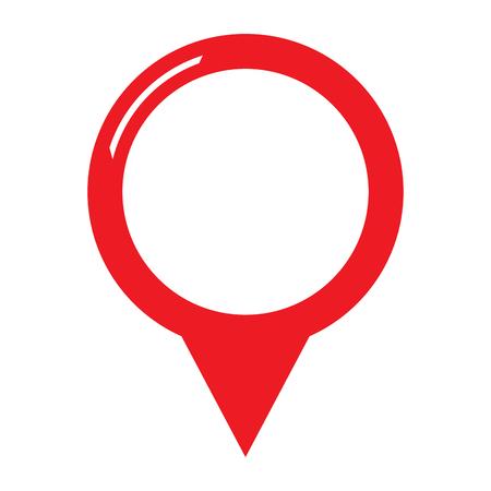 Icono de entrada de mapa aislado. Diseño de ilustración vectorial