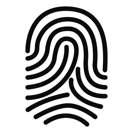 Isolated silhouette of fingerprints. Vector illustration design