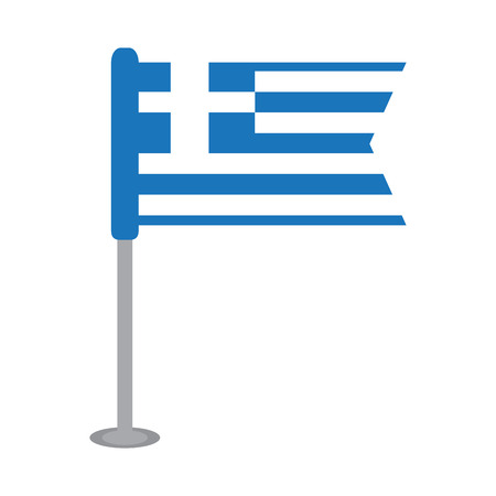 Isolated flag of Greece. Vector illustration design