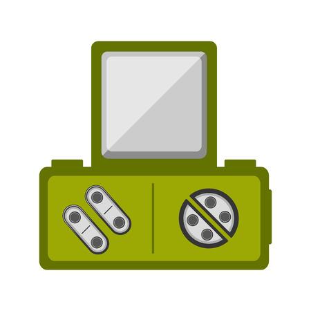 Isolated portable videogame console icon. Vector illustration design