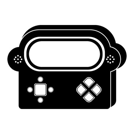 Isolated portable videogame console icon. Vector illustration design Stock Vector - 112085409