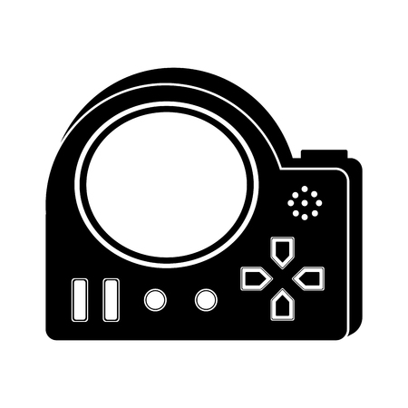 Isolated portable videogame console icon. Vector illustration design
