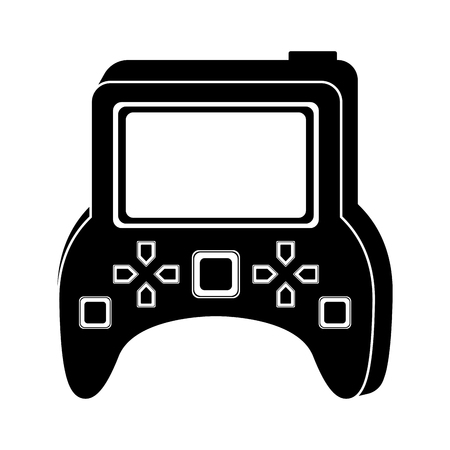 Isolated portable videogame console icon. Vector illustration design 向量圖像