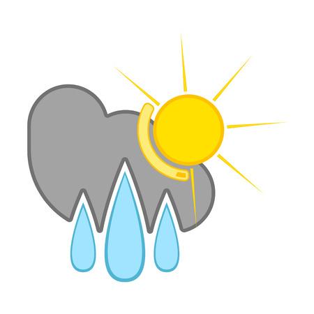 Isolated rainy weather icon. Vector illustration design