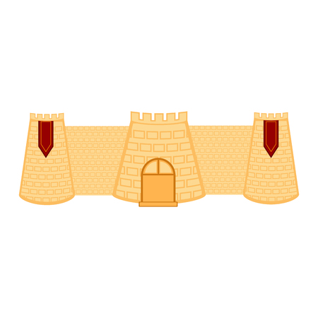 Isolated medieval castle wall building. Vector illustration design Ilustração