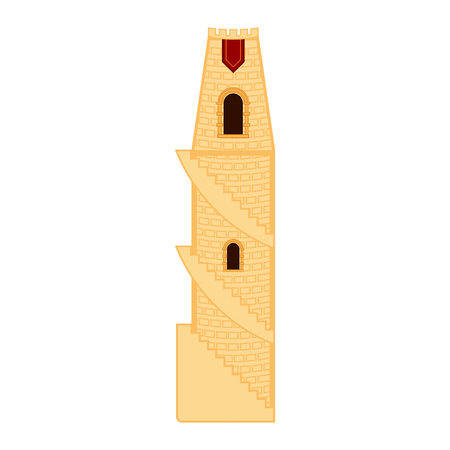 Isolated medieval tower building. Vector illustration design Ilustração