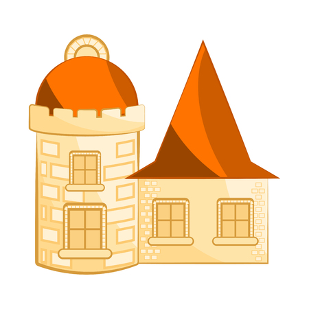 Isolated medieval castle building. Vector illustration design