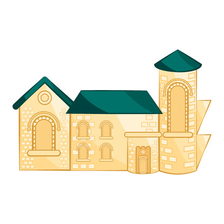 Isolated medieval building image. Vector illustration design