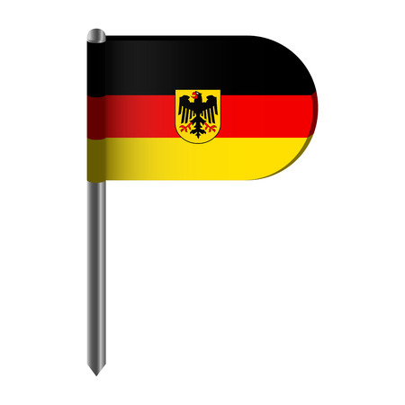 Isolated flag of Germany