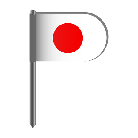 Isolated flag of Japan. Vector illustration design