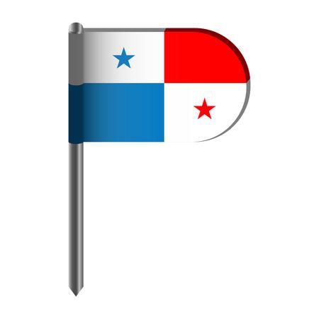 Isolated flag of Panama