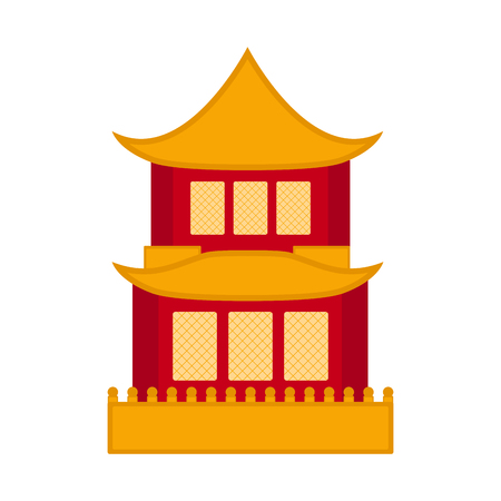Traditional asian building icon. Vector illustration design