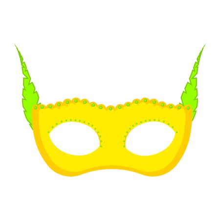 Isolated carnival mask image