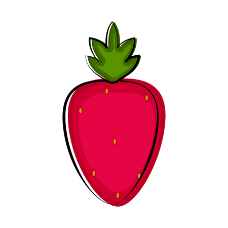 Isolated strawberry sketch icon. Vector illustration design