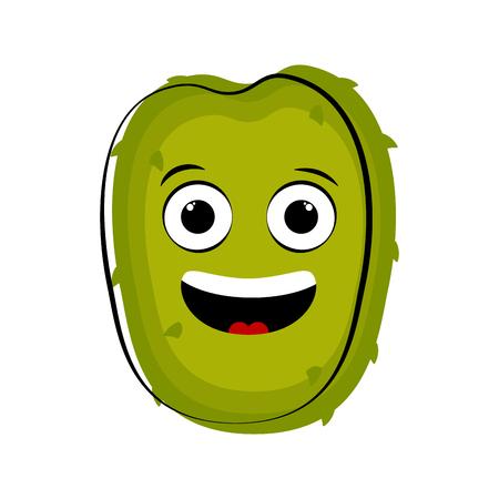 Happy soursop cartoon character emote. Vector illustration design Illustration