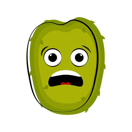 Surprised soursop cartoon character emote. Vector illustration design Illustration