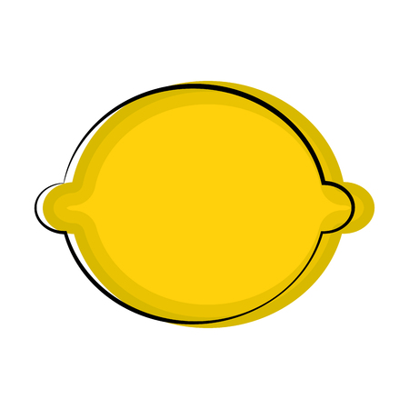 Isolated lemon sketch icon. Vector illustration design