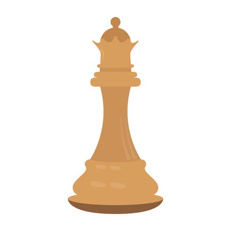Isolated queen chess piece icon. Vector illustration design