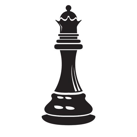 Isolierte Königin Schachfigurenikone