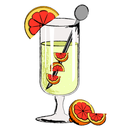 Popular martini cocktail drink. Vector illustration design